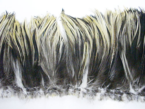 Badger cock hackle feathers