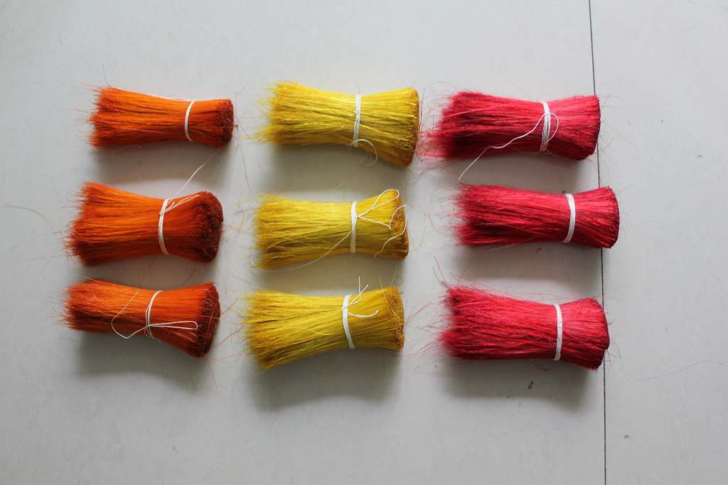Wild Boar Bristles  Dyed Red